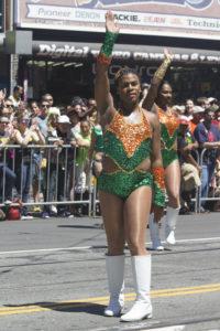 A Prancing Elites dancer