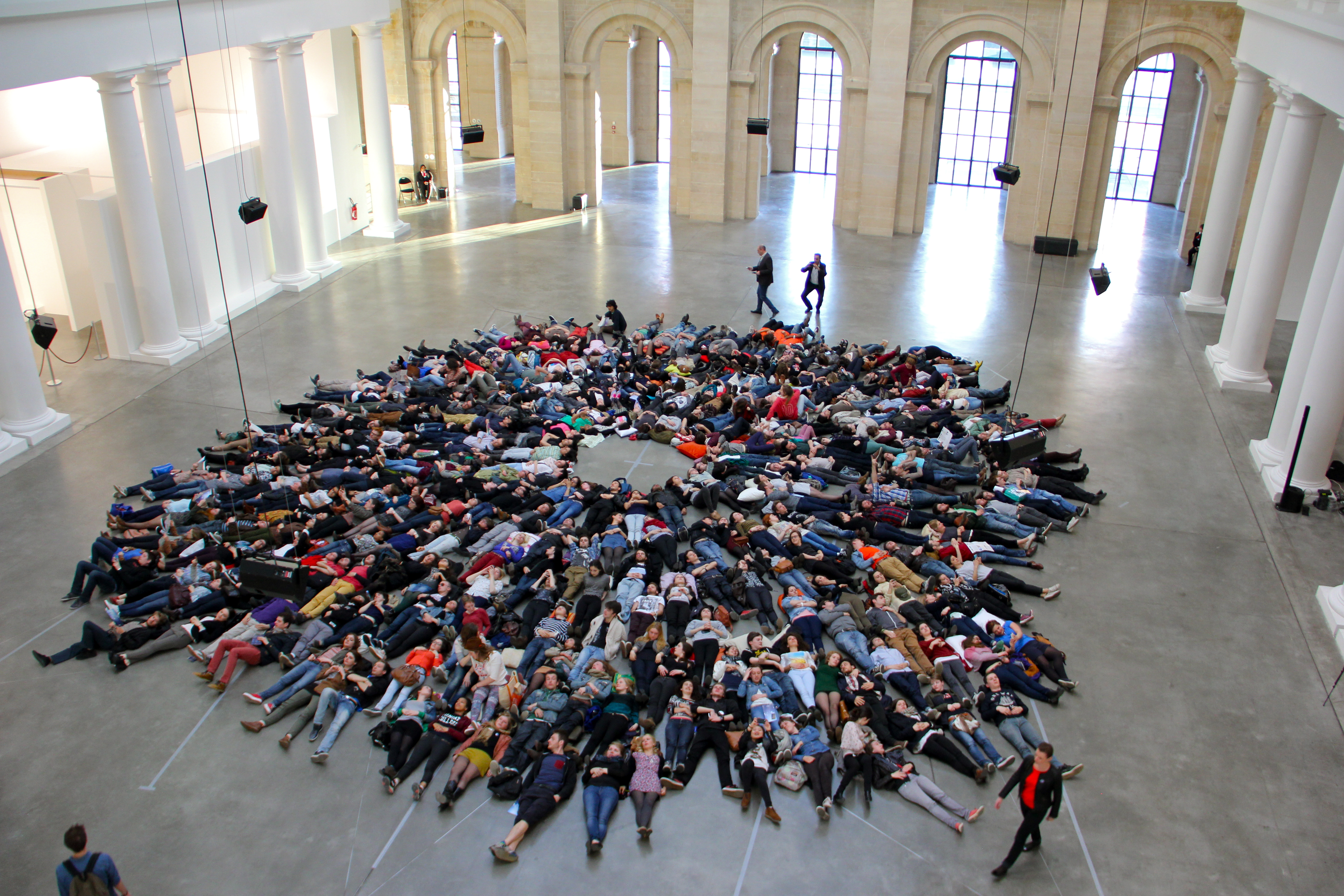 A flash mob at Palais des Beaux-Arts Lille