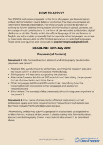 Extended deadline Call for Papers