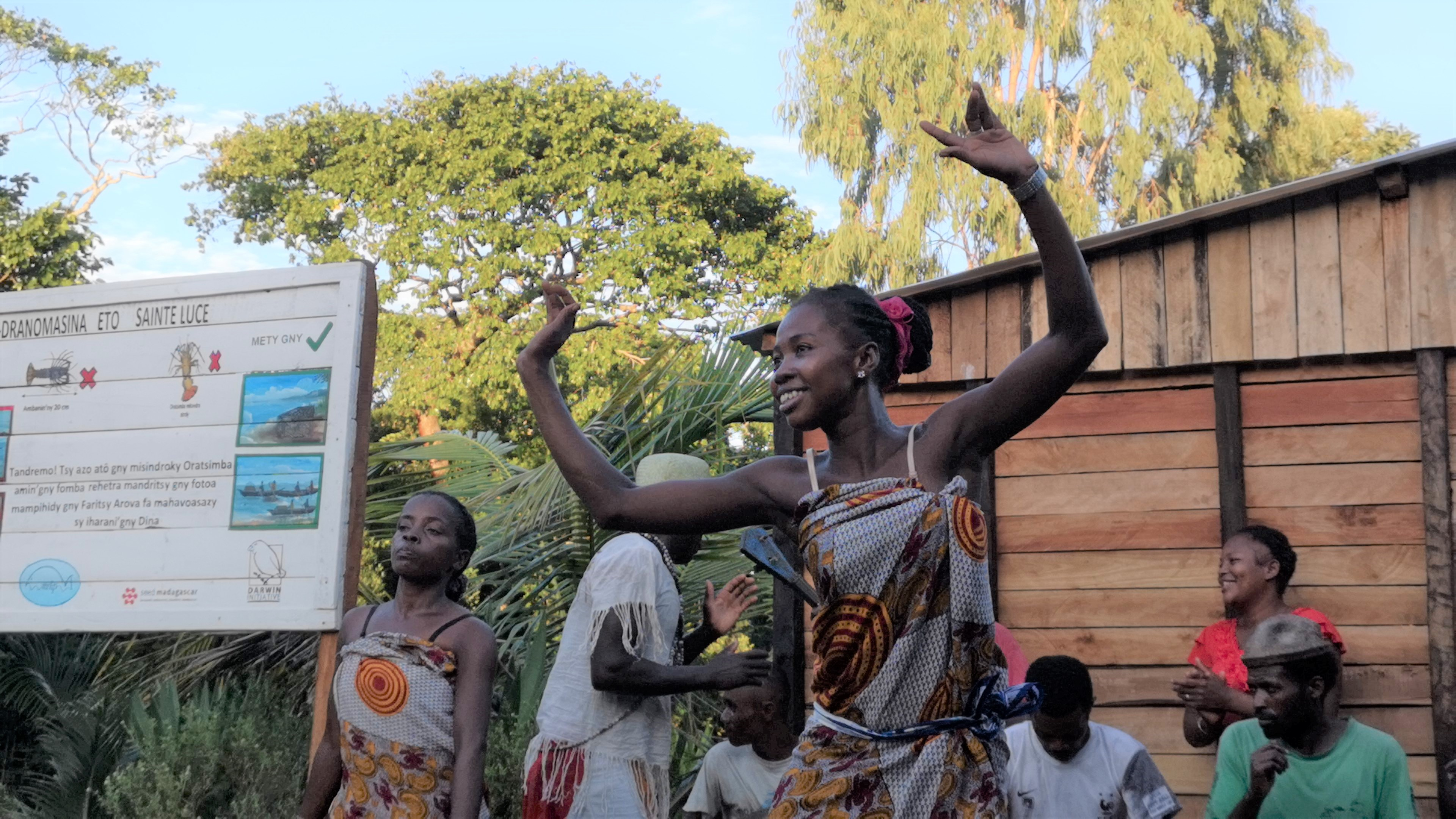 Girl dancing in Madagascar